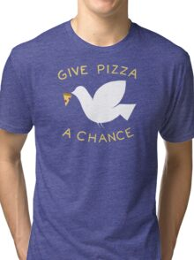 War & Pizza Tri-blend T-Shirt