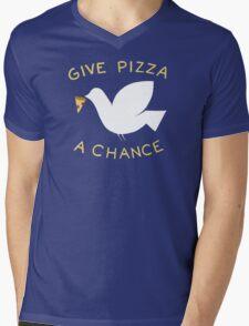 War & Pizza Mens V-Neck T-Shirt
