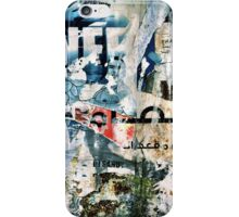 Beirut Street Art (Blue Man) iPhone Case/Skin