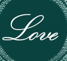 Green Vintage Love Lace  Sticker