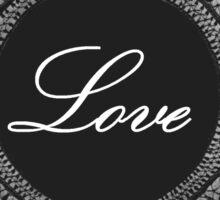Black vintage lace love  Sticker