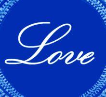Blue vintage lace love 02 Sticker