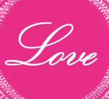 Pink vintage lace love 03 Sticker