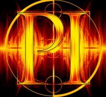 PI Radio Logo Sticker (Orange) Sticker