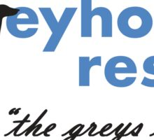 Greyhound Rescue Logo #2 Sticker