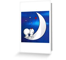 Sitting on the moon Greeting Card