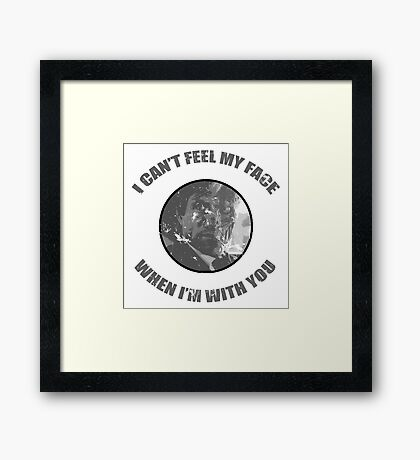 Two-Face Weeknd Parody Framed Print