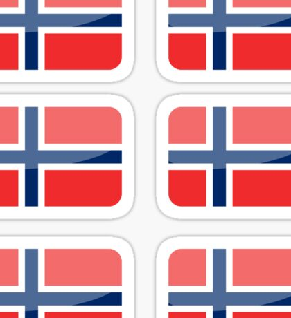 Flags of the World - Norway x6 Sticker