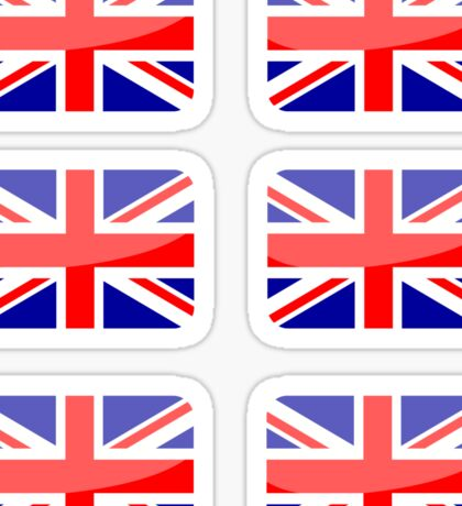 Flags of the World - Great Britain x6 Sticker