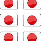 Flags of the World - Japan x6 by CongressTart