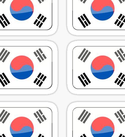 Flags of the World - Republic of Korea x6 Sticker