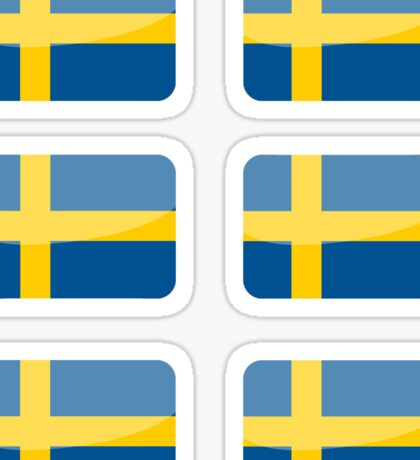 Flags of the World - Sweden x6 Sticker