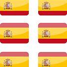 Flags of the World - Spain x6 by CongressTart