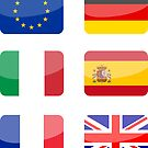 Flags of the World - Europe Pack #1 x6 by CongressTart