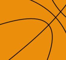 Round Basketball Tribal Sticker