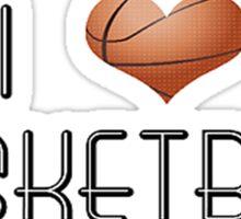 I Love Basketball Sticker