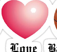 Peace, Love, Basketball Sticker