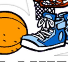 I'd Rather Be Playing Basketball Sticker