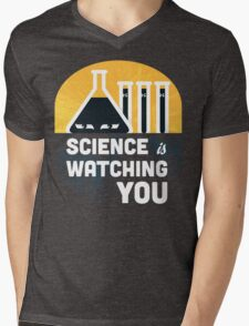Science is Watching You Mens V-Neck T-Shirt