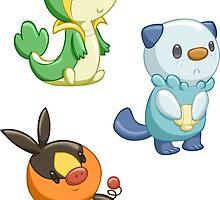 Pokemon Starters - Gen 5 by TipsyKipsy