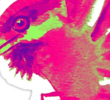 pink glow kingfisher Sticker