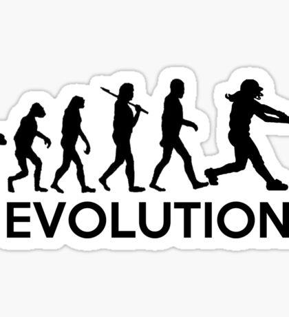 Evolution of a Softball Player Sticker
