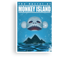 Monkey Island Travel Poster Canvas Print