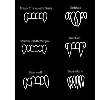 Vampire teeth Photographic Print