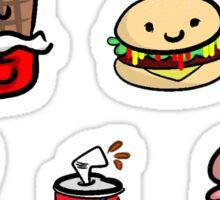 FAST FOODS STICKER PACK Sticker