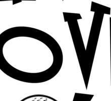 Live, Love, Golf Sticker