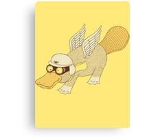Platasus the Aviator Canvas Print