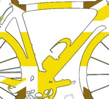 Bike Flag United Kingdom (Gold - Big) Sticker