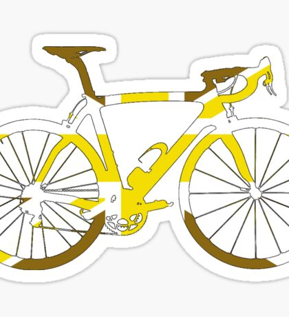 Bike Flag United Kingdom (Gold - Big) Sticker