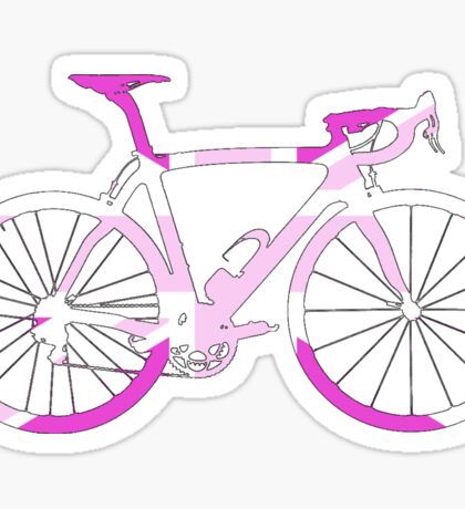 Bike Flag United Kingdom (Pink - Big) Sticker