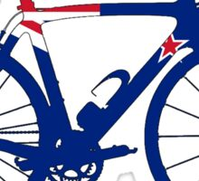 Bike Flag New Zealand (Big) Sticker