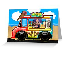 ice cream truck birthday greeting card Greeting Card