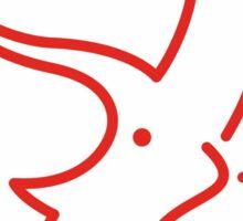 Dinosaur heart: Triceratops sticker Sticker