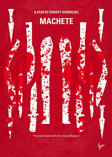 No114 My Machete minimal movie poster by Chungkong