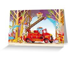 Fire Fighters Greeting Card