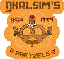Street Vendor2 Dhalsim's Yoga fired Pretzels (sticker) by RootBeerRobot