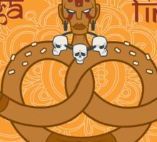 Street Vendor2 Dhalsim's Yoga fired Pretzels (sticker) Sticker