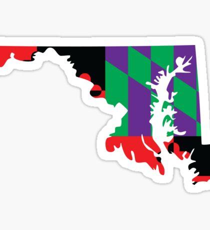 Maryland Flag [Purple]   State Line   SteezeFactory.com Sticker