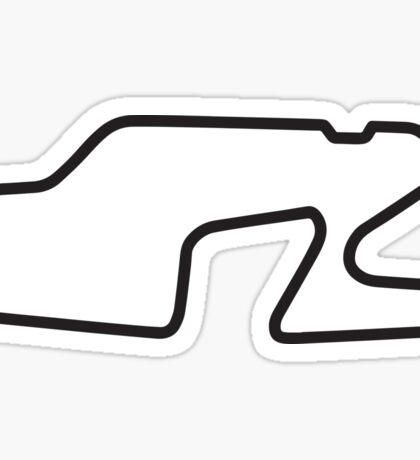 Watkins Glen International track map sticker Sticker