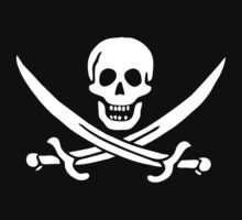 Pirate symbol of skull and cross bones by nadil