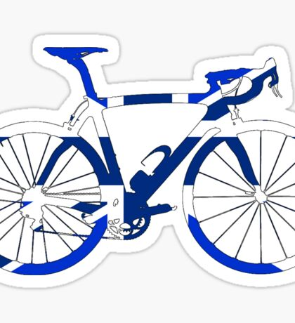Bike Flag United Kingdom (Blue - Big) Sticker