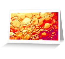 orange scale bubbles Greeting Card