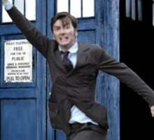David Tennant and the Tardis Sticker