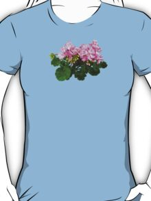 Pink and White Striped Geraniums T-Shirt