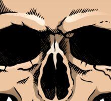 Human skull frontal view Sticker