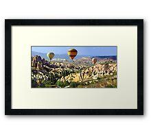 balloons over cappadocia Framed Print